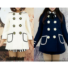 Load image into Gallery viewer, Navy/White Daisy Flowers Coat SP153806/Pant-skirt SP154355 - SpreePicky  - 1