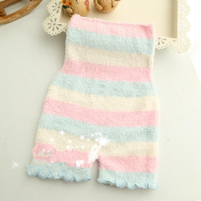 Pastel Fleece High Waist Warming Shorts SP164918 - SpreePicky  - 3