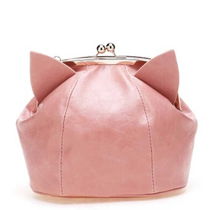 Pink/Black Cute kitten Mini Shoulder Bag SP152949 - SpreePicky  - 1