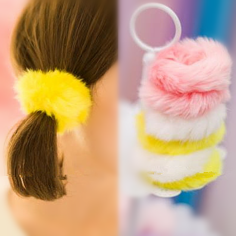 Pink/White Sweet Doughnut Plush Hair Band SP154583 - SpreePicky  - 1