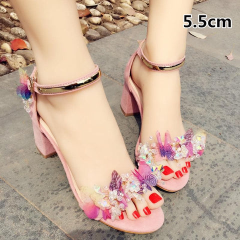 Pink Pastel Butterfly Shoes SP179542