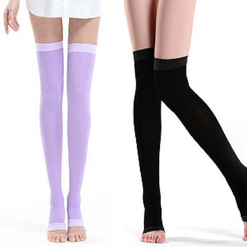 Purple/Black Compression Step on the Foot Socks SP164928 - SpreePicky  - 1