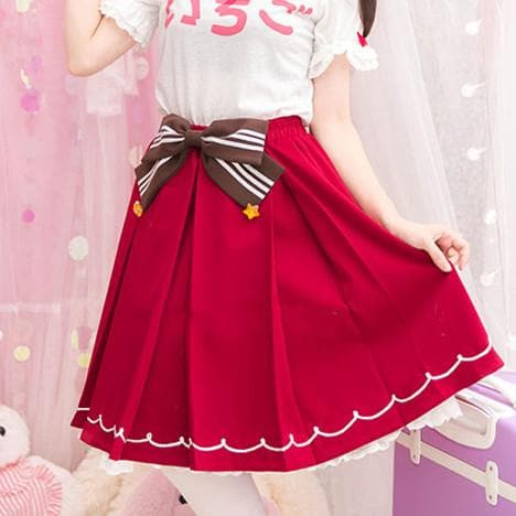 Red Kawaii Strawberry Skirt SP153809 - SpreePicky  - 1