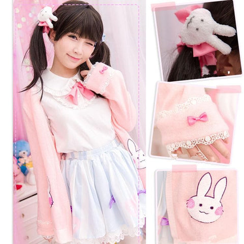 Kawaii Bunny Blouse/Skirt/Sweater SP153543 - SpreePicky  - 3