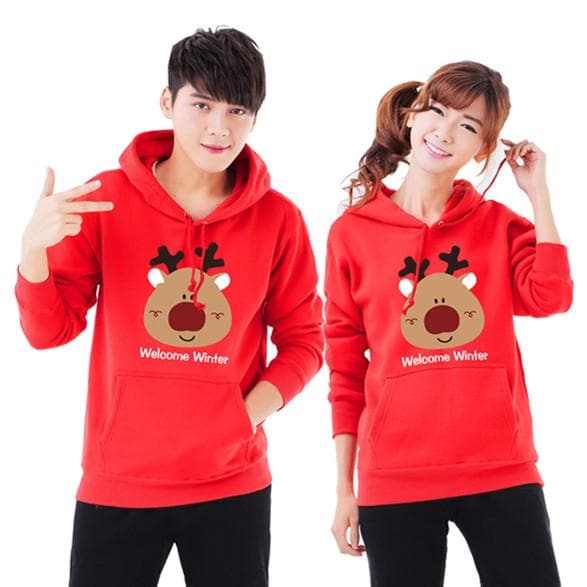 S-3XL Welcome Winter Couple Hoodie Jumper SP154098 - SpreePicky  - 1