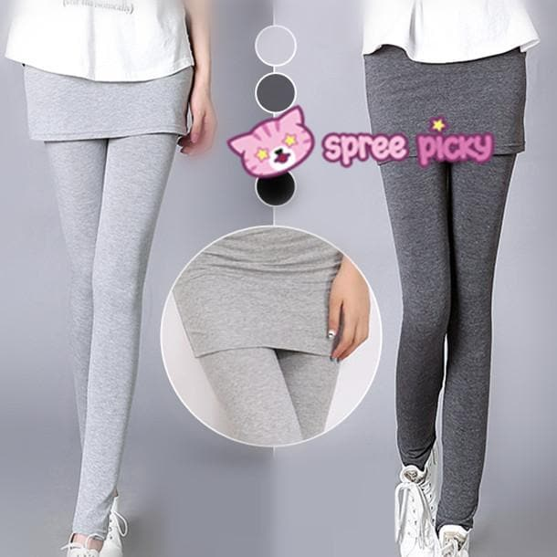 [S-4XL] 3 Colors Bottoming Skirt-Leggings SP153322 - SpreePicky  - 1