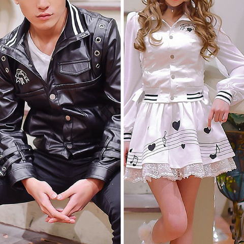 S-XL Black/White Couples Baseball Jacket Coat SP165138