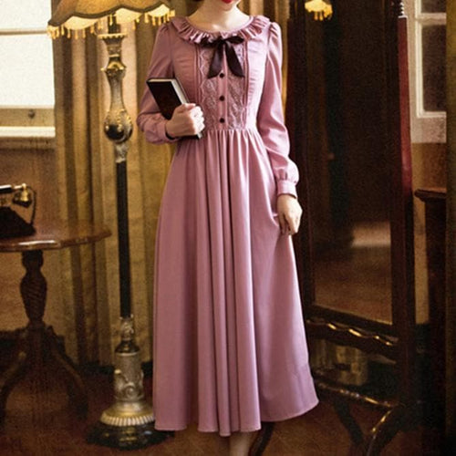 S-XL Dark Pink Fairy Lady Long Dress SP154225 - SpreePicky  - 1