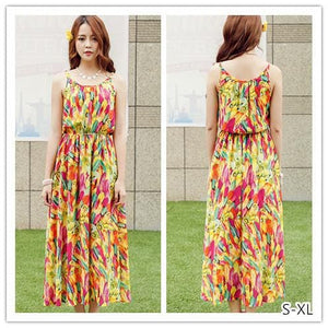S-XL Fresh Sunset Maxi Dress SP152615 - SpreePicky  - 1