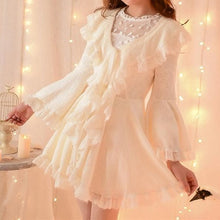 Load image into Gallery viewer, S/M/L Apricot Ruffle Sleeve Princess Dress SP153626 - SpreePicky  - 1