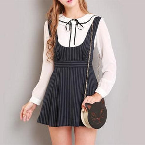 S/M/L Black Stripes Sleeveless Dress SP154285 - SpreePicky  - 1
