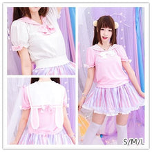 Load image into Gallery viewer, S/M/L Cutie Bunny Ears Bowknots Tee Shirt SP153069 - SpreePicky  - 1
