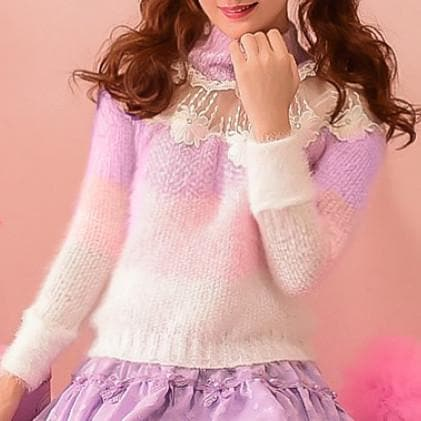 S/M/L Floral Candy Sweater SP153619 - SpreePicky  - 1