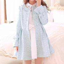 Load image into Gallery viewer, S/M/L Light Blue Princess Bow Lace Coat SP154532 - SpreePicky  - 1