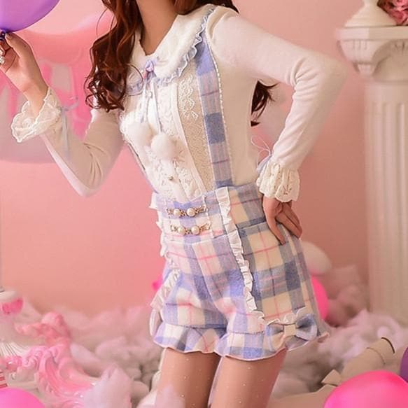 S/M/L Little Blue Fairy Suspender Shorts SP153627 - SpreePicky  - 1