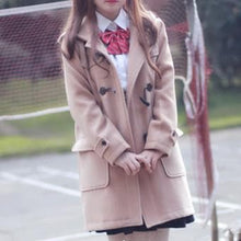 Load image into Gallery viewer, S/M/L Navy/Light Tan Long Uniform Hoodie Coat SP154529 - SpreePicky FreeShipping