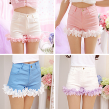 Load image into Gallery viewer, S/M/L Pink/Blue/White Sweet Flower Shorts SP166792