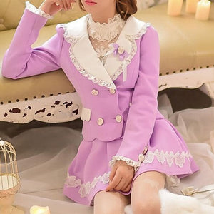 S/M/L Purple Elegant Coat SP153620 - SpreePicky  - 1