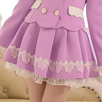 S/M/L Purple Elegant Skirt SP153621 - SpreePicky  - 1