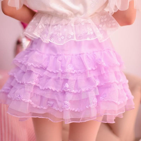 SML Purple Princess Layered Bubble Skirt SP165144