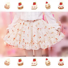 Load image into Gallery viewer, S/M Creamy-White Lovely Sweet Cream Cupcake Printed Skirt Only SP165918