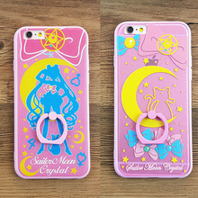 Load image into Gallery viewer, Sailor Moon Iphone Phone Case With Ring Holder SP165252 Kawaii Aesthetic Fashion - SpreePicky