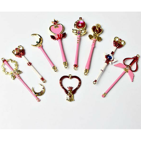 Sailor Moon Magic Wand Key Chain 9 Pieces SP164733 - SpreePicky  - 1