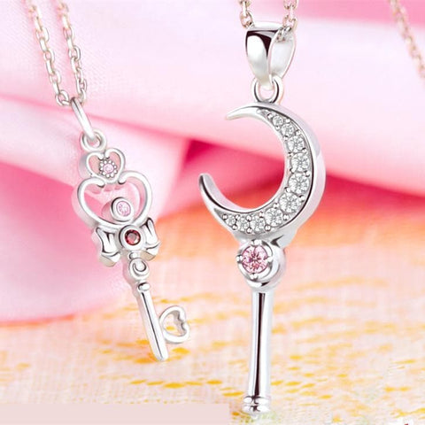Sailor Moon Tsukino Usagi Moon Stick Necklace SP153093 - SpreePicky  - 1
