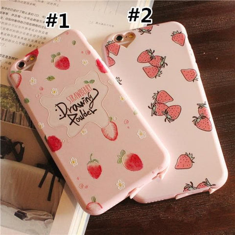 Pinky Cream Strawberry Phone Case SP165679