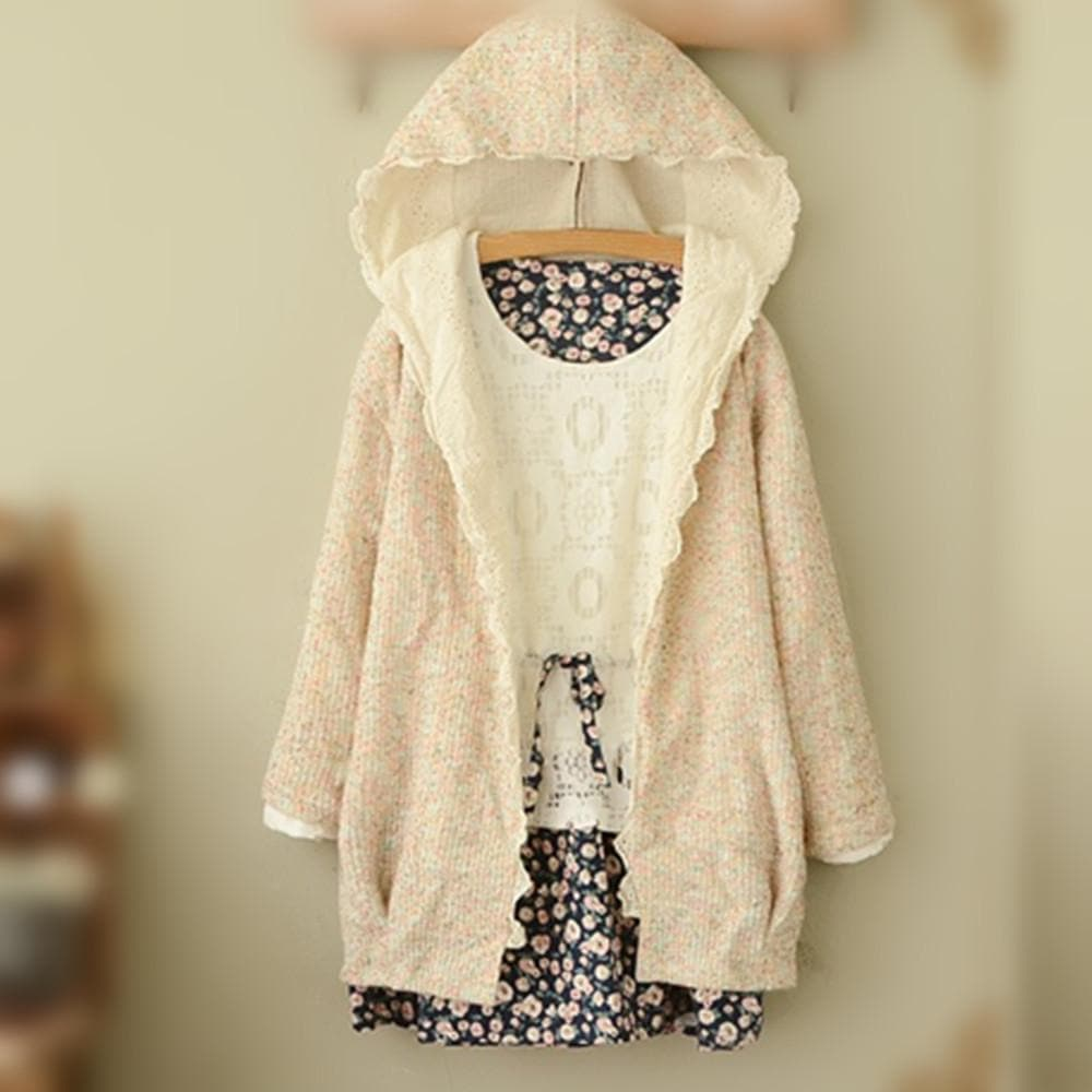 Sweet Spring Knitted Thin Loose Coat SP154018 - SpreePicky  - 1