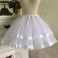 Load image into Gallery viewer, White/Black Bobby Lolita Fluffy Petticoat Skirt SP154049 - SpreePicky  - 1