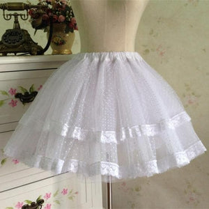 White/Black Bobby Lolita Fluffy Petticoat Skirt SP154049 - SpreePicky  - 1