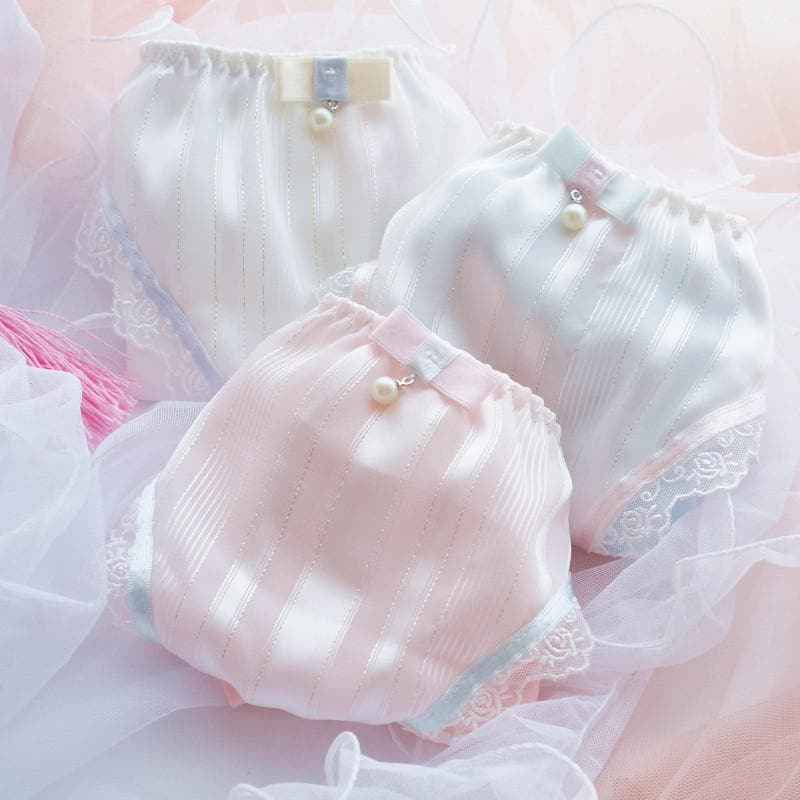 White/Pink/Blue Milky Lace Undies SP164910 - SpreePicky  - 1