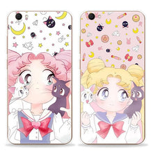 Load image into Gallery viewer, White/Pink Kawaii Sailor Moon Phone Case SP1710486