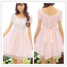 Load image into Gallery viewer, White/Pink Snow White Sweet Princess Dress SP152918 - SpreePicky  - 1