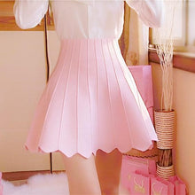 Load image into Gallery viewer, White/Pink Sweet Raised Grain Knitted Skirt SP164880 Kawaii Aesthetic Fashion - SpreePicky