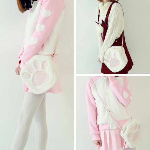 White Kawaii Plush Shoulder Bag SP165501