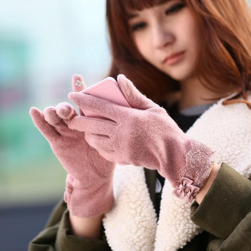 Winter Woolen Gloves With Touch Phone Screen Ability SP154063 - SpreePicky  - 1