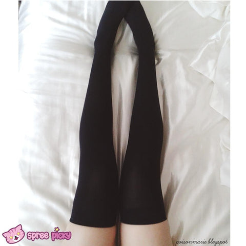 15 Colors Cosplay Basic Pure Color Thigh High Stocking SP130234 - SpreePicky  - 5