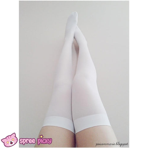 15 Colors Cosplay Basic Pure Color Thigh High Stocking SP130234 - SpreePicky  - 4