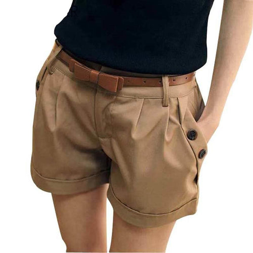 Summer Shorts England Style Casual Shorts Without Belt SP15032