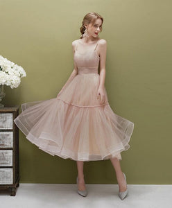 Cute Green Tulle Short Prom Dress Simple Tulle Homecoming Dress - DelaFur Wholesale