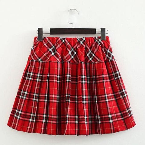 S-3XL Uniform Pleated Skirt SP154547 - SpreePicky  - 21