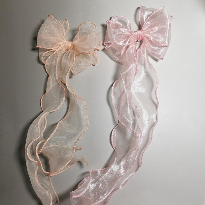 Grey/Pink/Beige/Black Soft Ribbon Bows Hairpin SP1811626