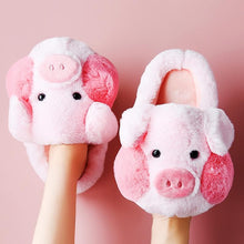 Load image into Gallery viewer, Super Cute Pig Fluffy Slippers SP15312
