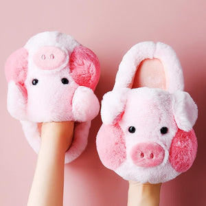Super Cute Pig Fluffy Slippers SP15312