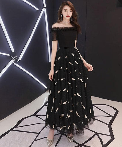 Black Tulle Prom Dress, Black Tulle Evening Dress - DelaFur Wholesale