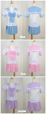 3 Colors J-fashion Cos Sailor School Uniform Seifuku Set  SP130056 - SpreePicky  - 5