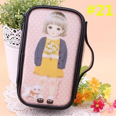 24 Patterns Cutie Girl Cartoon Cosmetic Storage Bag SP153063 - SpreePicky  - 24