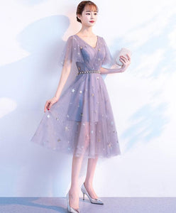 Cute V Neck Tulle Short Prom Dress, Tulle Homecoming Dress - DelaFur Wholesale
